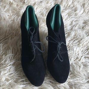 Balenciaga black suede booties sz 39 or 9